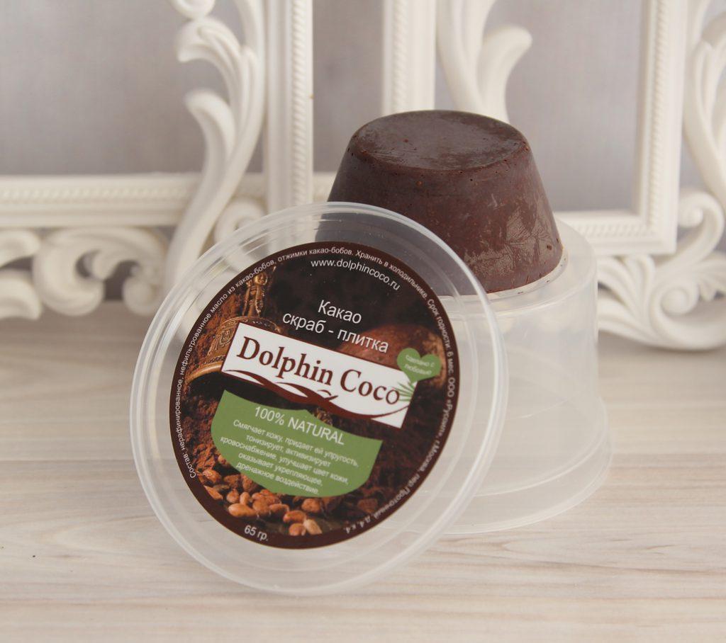 Какао скраб-плитка